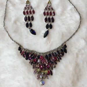 Swarovski Tody Bib Necklace and earring as set